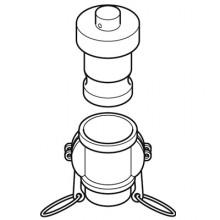 Camlock Access  -  Dust Plug Upper