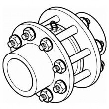 HDPE Flanged Valve Assembly