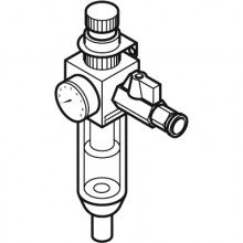 Valved Regulator +  Push-In Connectors